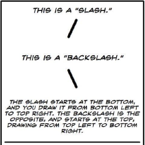 Metaphorical Inking: Backslash